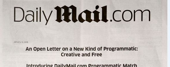 Daily Mail runs ad in NY Times to promote programmatic