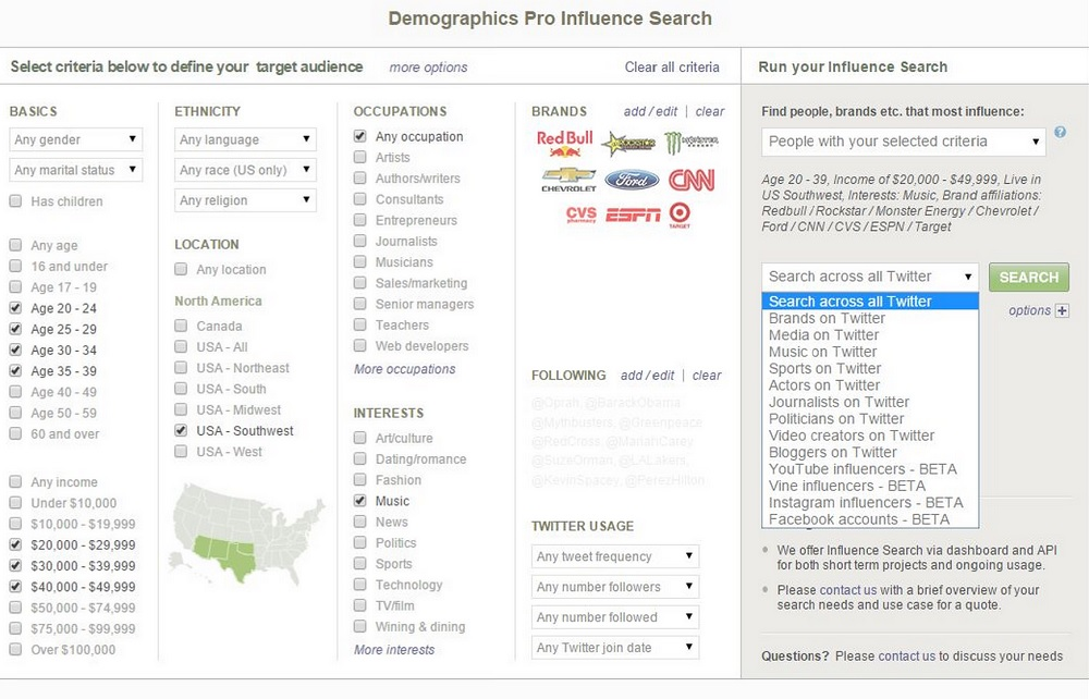 Demographics Pro lets marketers zero in on 'influencers'