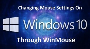Changing Mouse Settings On Windows 10 Through WinMouse