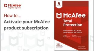 Mcafee Activate-How to activate mcafee product